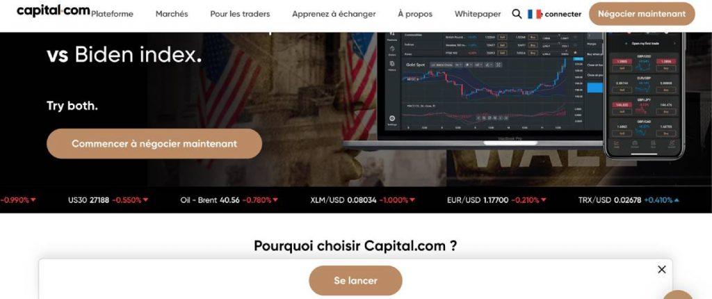 Se lancer sur capital.com